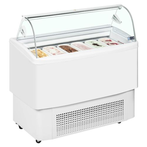 ISA FIJI 6 Ventilated Scoop Ice Cream Display